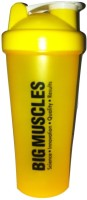 BIGMUSCLE CoolShopi Protein 600 Ml Shaker (Pack Of 1, Yellow)