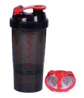 Fuel Shake Speed 500 Ml Shaker, Sipper, Bottle (Pack Of 1, Black & Red)
