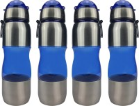 French Twins Elite 700 Ml Bottle (Pack Of 4, Translucent Blue)