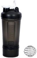 UDAK Prostack One Storage 500 Ml Bottle, Shaker, Sipper, Flask (Pack Of 1, Black)