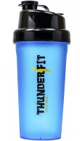 THUNDERFIT 270-BLUE-II ORIGNAL GYM AND PROTEIN 750 Ml Bottle, Shaker, Water Bag, Sipper, Flask, Bottle Cage (Pack Of 1, BLUE AND BLACK)