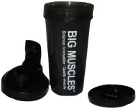 BIGMUSCLE Bottle 600 Ml Shaker (Pack Of 1, Black)