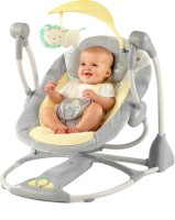 Bright Starts Smart and Quiet Portable Swing Grey, Yellow