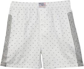 Killer White Printed Stripes Printed Men's Boxer Pack Of 1