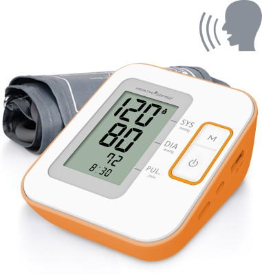 HealthSense Heart-Mate Classic BP-100 (Talking) Upper Arm Digital Bp Monitor (White, Orange)