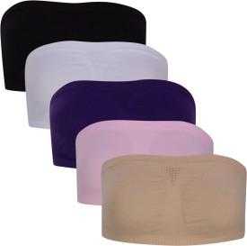 Luxemburg White Black Cream Purple and Pink Women's Tube Bra