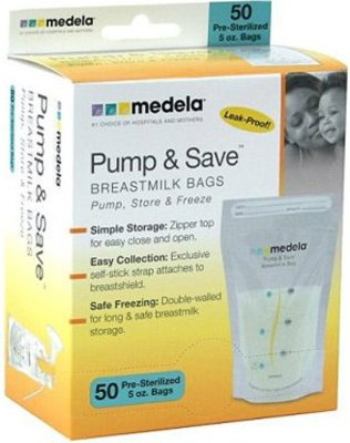 Medela Pump & Save Breastmilk Bags (20 Pieces)  - Manual (White)