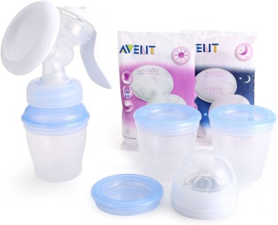 Philips Avent Comfort Manual Breast Pump Natural Includes 3 Milk Storage Cups  - Manual