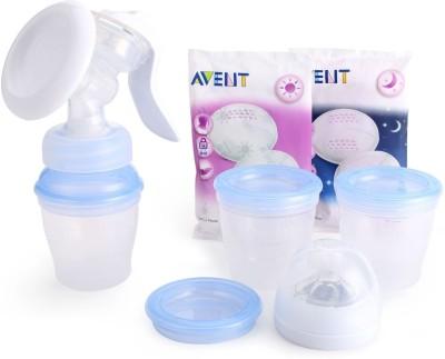 Philips Avent Comfort Manual Breast Pump Natural Includes 3 Milk