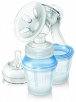 Philips Avent Comfort Manual Breast Pump Natural Includes 3 Milk Storage Cups - Manual: Breast Pump