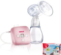 Farlin Dual Breast Pump With Wet Wipes  - Electric (Pink)