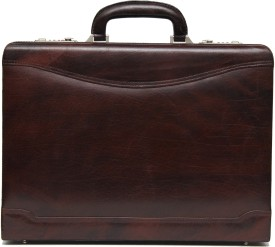 C Comfort Genuine Leather Medium Briefcase - For Men, Women