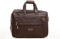 Easies Synthetic Leather Full Expandable 16 Inches Executive Brown Color Office Bag Large Briefcase - For Men Brown