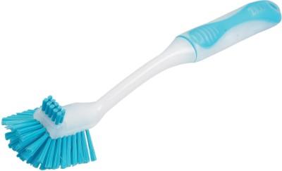 Zibo Dish, Sink Washing Dual Bristle Brush Plastic Wet Brush Blue, Pack of 1