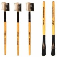 VEGA Eye Groomer, Pan Cake Brush (Pack Of 5)