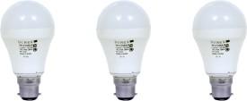 9W Aluminium Body White LED Bulb (Pack of 3)