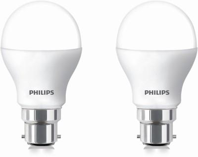 9 W LED cool daylight Bulb B22 White (pack of 2)