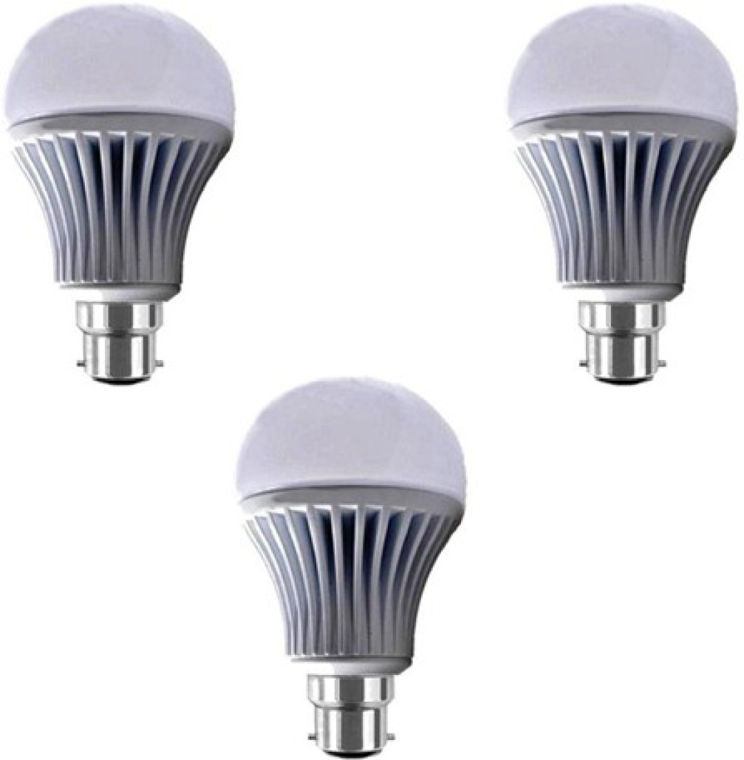 7W B22 LED Bulb (White) [Pack of 3]
