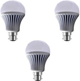7W B22 LED Bulb (White) [Pack of 3]
