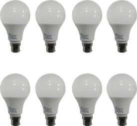 9W Led Bulb (White, Pack of 8)