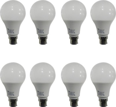 9W Led Bulb (White, Pack of 8)