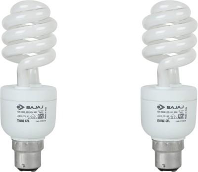 15 W Twister Bajaj Miniz CFL Bulb (White, Pack of 2)