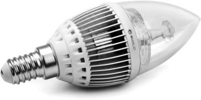 5W E14 White LED Candle Bulb (Aluminium)