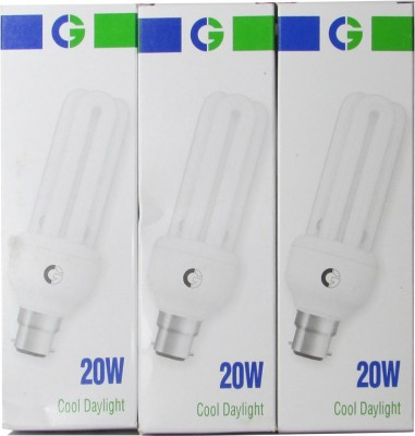 Greaves-20-W-3U-CFL-Bulb-(Cool-Daylight,-Pack-of-3)-