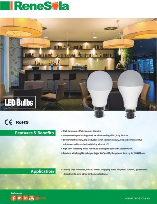 ReneSola-5W-B22-LED-Bulb-(Cool-White)
