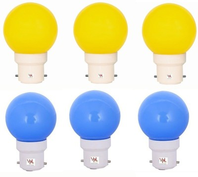 VPL-India-0.5W-Multicolor-LED-Bulb-(Pack-of-6)