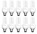 Rashmi 3U 20W Lamp B22 Cap CFL Bulb - White, Pack Of 10