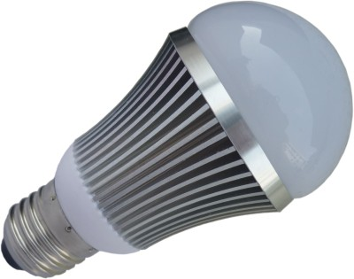 7W E27 Aluminium Body White LED Bulb
