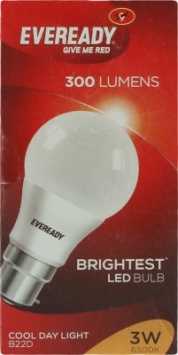 3 W LED Bulb B22 White (pack of 4)
