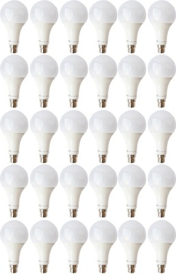 9W B22 LED Bulb (White, Set of 30)