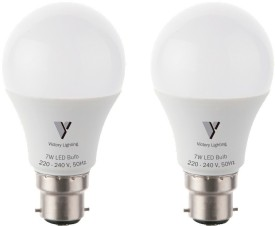 Victory Lighting 7 W LED Bulb (White, Pack of 2)
