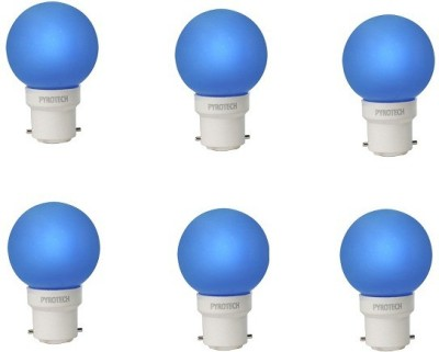 0.5W LED Bulb (Blue, Pack of 6)