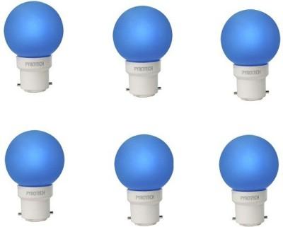0.5W LED Bulb (Blue, Pack of 6)