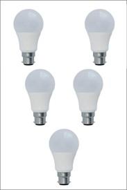 9W Led Bulb (White, Pack of 5)
