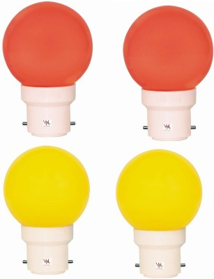0.5W LED Light Multicolour (Pack Of 4)