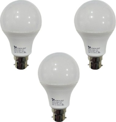 7 W B22 PAG LED Bulb (White, Plastic, Pack of 3)