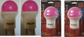 0.5 W LED Bulb B22 Pink (Pack of 4)