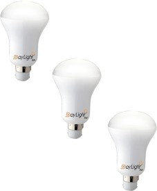8W B36 LED Bulb (White, Set Of 3)