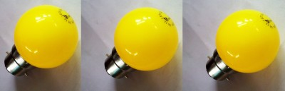 0.5W Yellow LED Bulb - (Pack Of 3)