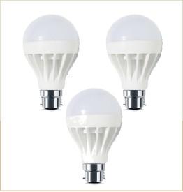 3W B22 White LED Economy Bulb (Pack of 3)
