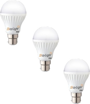 Technology 5 W LED Bulb (White, Pack of 3)
