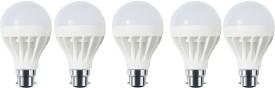 9W-B22-White-LED-Economy-Bulb-(Plastic,-Pack-of-5)