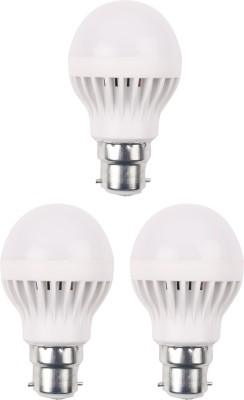 3W 460 Lumens White Eco LED Bulbs (Pack Of 3)