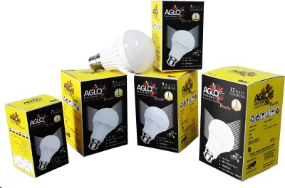 Aglo-7-W-LED-Bulb-(Coolday-Light,-Pack-of-5)