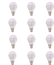 7W 460 Lumens White Eco LED Bulbs (Pack Of 12)