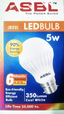 5 W LED Bulb White (pack of 10)